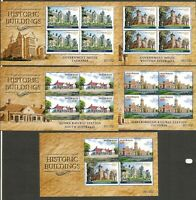 2014 Historic Buildings Set of 5 Sheetlets LIMITED ISSUE Only 250 Sets RARE!