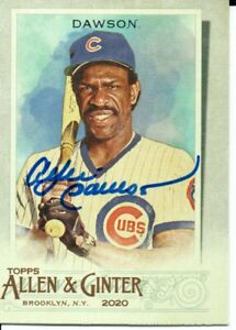 Andre Dawson Chicago Cubs 2020 Topps Allen & Ginter Autographed Signed Card