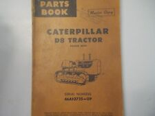 CAT Caterpillar D8 Tractor Power shift Parts Manual 46A10725 Up