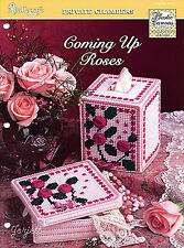 Coming Up Roses ~ Boutique Tissue Cover & Trinket Box plastic canvas patterns