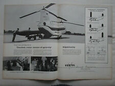 5/1959 PUB VERTOL 107 US ARMY HELICOPTER HELICOPTERE MISSILE ORIGINAL AD