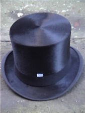 Antique. London Black Silk Top Hat Sz 7¼.