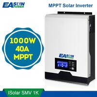 1KW Off Grid Hybrid Solar Inverter 12V Pure Sine Wave Inverter 40A MPPT Charger