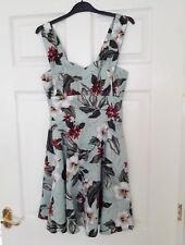 Hell Bunny 50s Mini Dress Summer Vintage Retro TAHITI Green Purple Flowers S 10