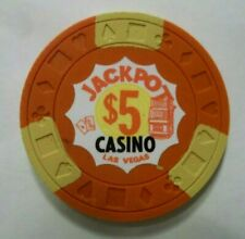 Jackpot Casino $5 Las Vegas Nevada Chip Obsolete Nevada ~