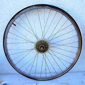 FROM A SCHWINN VOYAGEUR 11.8 CHROME-MOLY    --rear freewheel & rim --
