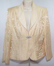 Vtg Alex Evenings Gold Silky Wrinkled Metallic Gem Clasp Womens 12P Made in Usa