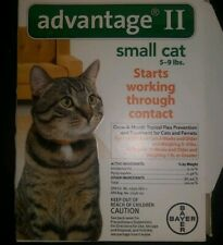 Advantage II Flea Treatment for Small Cats 5 to 9 lbs 1 dose (1 month supply)