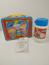 Walt Disney Dumbo Metal Lunchbox Lunch Box W/ Thermos Never Used