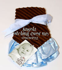 Angels Watching Over Me-Blue on Brown-Lovey