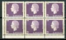 Canada #403pix 403ix Corner Block 6 LL Dark Purple Wide Narrow Tag Bars MNH