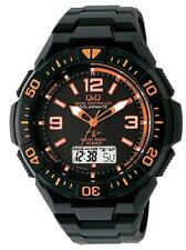 CITIZEN Q&Q MD06-315 SOLARMATE Black x Orange Men's Watch New in Box