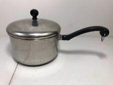 Vintage Farberware 3 Quart Aluminum Clad Stainless Steel Saucepan Pot With Lid