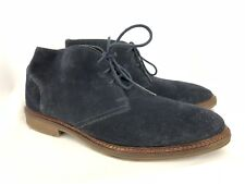 Alfani Mens Suede Chukka Boots Shoes Navy Blue Lace Up Size 11.5 SH207
