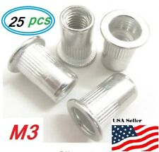 Aluminum Rivet Nut Rivnut Insert Nutsert M3x05 25 Pcs