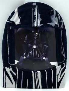 "Star Wars Darth Vader Youth Hooded Poncho Towel Black 22""x22"" New"