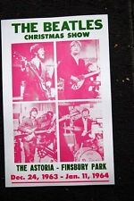 Beatles Tour Poster 1963 X-mas Show The Astoria Finsbury Par