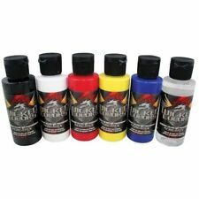 CREATEX WICKED Airbrushing Paint 6pc Set PRIMARY COLORS Made in USA