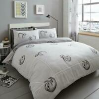 DOUBLE & KING SLOTH DUVET COVER Quilt Bedding Set with Pillow Case Easy Care