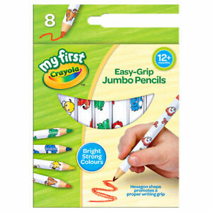 My First Crayola Easy Grip Jumbo Decorated Pencils (Pack of 8)