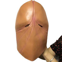 Penis Dick head mask latex mask costume Halloween prank Party cosplay prop funny