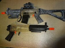 Pair of 2 Airsoft LPEG Rifles w/ Accessories For Parts or Repair