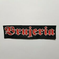 BRUJERIA RED LOGO EMBROIDERED PATCH
