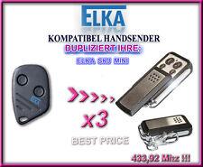3 X ELKA SKJ MINI kompatibel handsender, ersatz, Klone 433,92Mhz, 3 Stück !!!