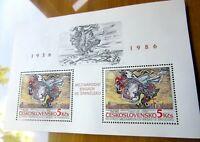 EBS Czechoslovakia 1986 50th Ann International Brigades in Spain Block 68 MNH**