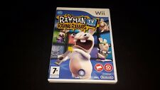 RAYMAN RAVING RABBIDS TV PARTY NINTENDO WII GAME BOX + MANUALE
