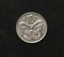 1977 New Zealand 10 Cents, Circulated