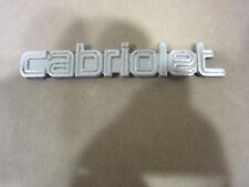 Ferrari Mondial - Cabriolet Script Emblem / Name Plate