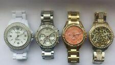 LADIES Stone Set Glitz Watches; DKNY, FCUK, FOSSIL etc. Working Watch Joblot