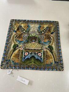£240 Camilla Franks 65cmX65cm Matriarch Musings Large Square Silk Cushion Cover