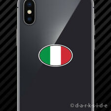 (2x) Italy Oval Cell Phone Sticker Mobile Italian Country Code euro IT v7
