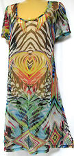 plus sz XS/14 TS TAKING SHAPE Tropical Fine Mesh Tunic sheer stretch coverup NWT