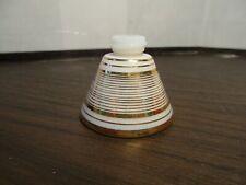 Fancy Vintage Perfume Bottle - Milk Glass Gold Verrerie Waltersperger - France