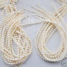 4-5mm White Natural Real Freshwater Pearl loose Beads strand