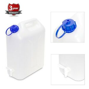 20L Plastic Garden Camping Caravan Water Carrier Fluid Jerry Can Container & Tap