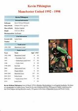 "KEVIN PILKINGTON MANCHESTER UNITED 1992-1998 ORIGINAL HAND SIGNED ""FUTERA"" CARD"