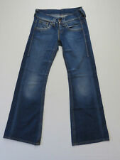 *F-033 LADIES REPLAY MADE ITALY DISTRESSED FLARE WV 410,032 DENIM JEANS SIZE 28