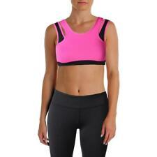 WOMENS sz LRG Stretch SPORTS BRA Workout FITNESS Athletic RACERBACK Yoga RUN Top