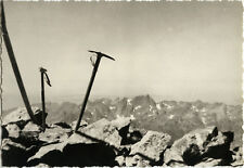 PHOTO ANCIENNE - VINTAGE SNAPSHOT - PAYSAGE ALPINISME PIOLET MONTAGNE - MOUNTAIN