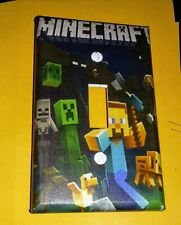 Custom Handmade Minecraft Style Three -Single Toggle Light Switch Cover