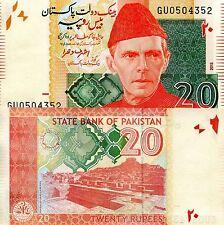 PAKISTAN 20 Rupees Banknote World Paper Money UNC Currency Pick p-55i Ali Jinnah
