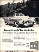 1952 BUICK 6 Passenger Super Convertible Great Decor PRINT AD