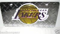 Los Angeles Lakers  LASER CUT  Car License Plate Diamond Not Made Anymore