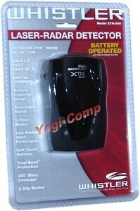 Whistler XTR-540 XTR540 Cordless Laser Radar Detector w/ Compass NEW