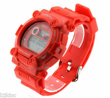 Mens & Woman Red Shock Resistant LED Digital Sports Watch
