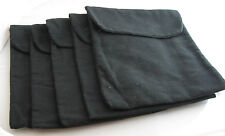 """150 New  Black Flannel Pouches  with Flap_9"""" x  7 5/8"""""""